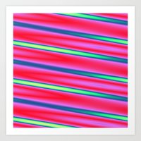 striped Art Prints featuring Striped by Angelandspot