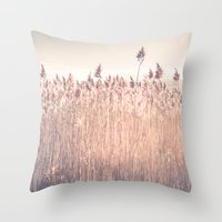 cape cod Throw Pillows featuring Cape Cod Salt Marsh by ELIZABETH THOMAS Photography of Cape Cod