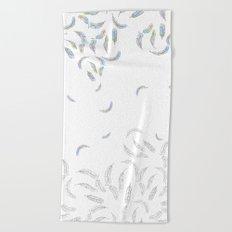 Faling fancy  feathers Beach Towel