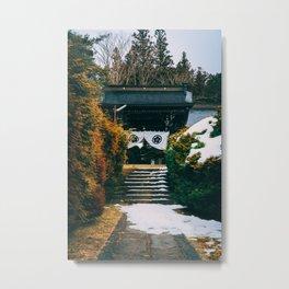 Snowy Takayama Metal Print