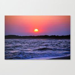 Colorful Cape May Sunet Canvas Print