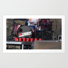 Red Solo - The Strokes Art Print