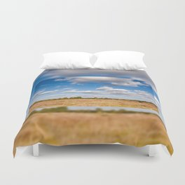 Blue sky cloudscape rural landscape Duvet Cover