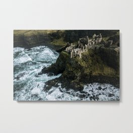Castle ruin by the irish sea - Landscape Photography Metal Print