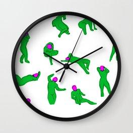 HanGyeol Drawing_Pink Man Wall Clock