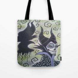 Maleficent Sugar Skull Tote Bag