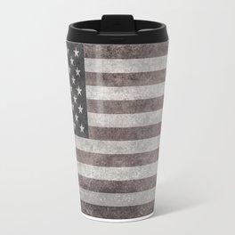 US flag in desaturated grunge Travel Mug