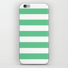 Asda Green (1999) - solid color - white stripes pattern iPhone Skin