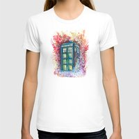 doctor T-shirts featuring Doctor Who Tardis by Jessi Adrignola