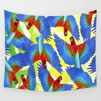rio Wall Tapestries featuring RIO PANTS PARTY by Chrisb Marquez