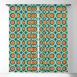 Flowers and bubbles Blackout Curtain