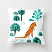 jaguar Throw Pillows featuring  Jaguar by Hui_Yuan-Chang