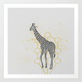 sketchy giraffe Art Print
