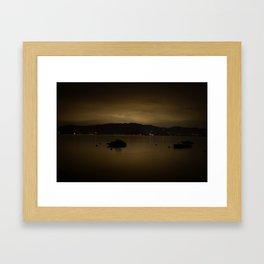 Warm Clouds Framed Art Print