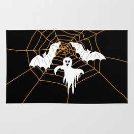 Bats and Ghost white - black color Rug