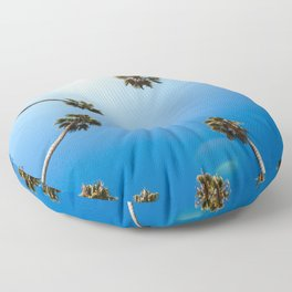 Palm Trees in Los Angeles Floor Pillow