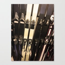 Vintage Skis Canvas Print