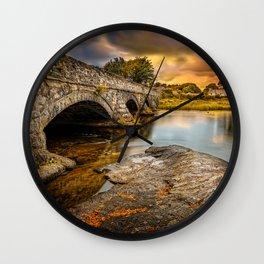 Pont Pen-y-llyn Bridge Snowdonia Wall Clock