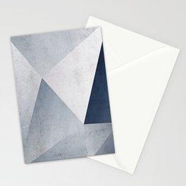 Indigo Minimal Geometry Stationery Cards