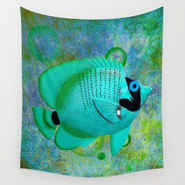 ANGEL FISH BLUE Wall Tapestry