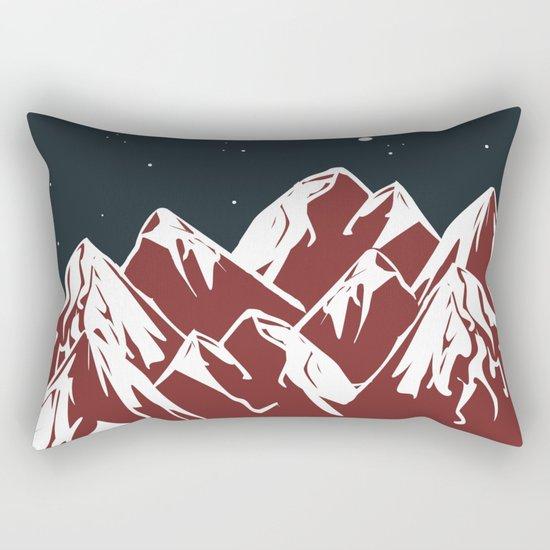 galactic mountains Rectangular Pillow