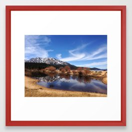 Peace lake Framed Art Print