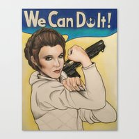 leia Canvas Prints featuring Leia by seventhwonderwitch