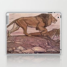 Vintage Lion Painting (1909) Laptop & iPad Skin