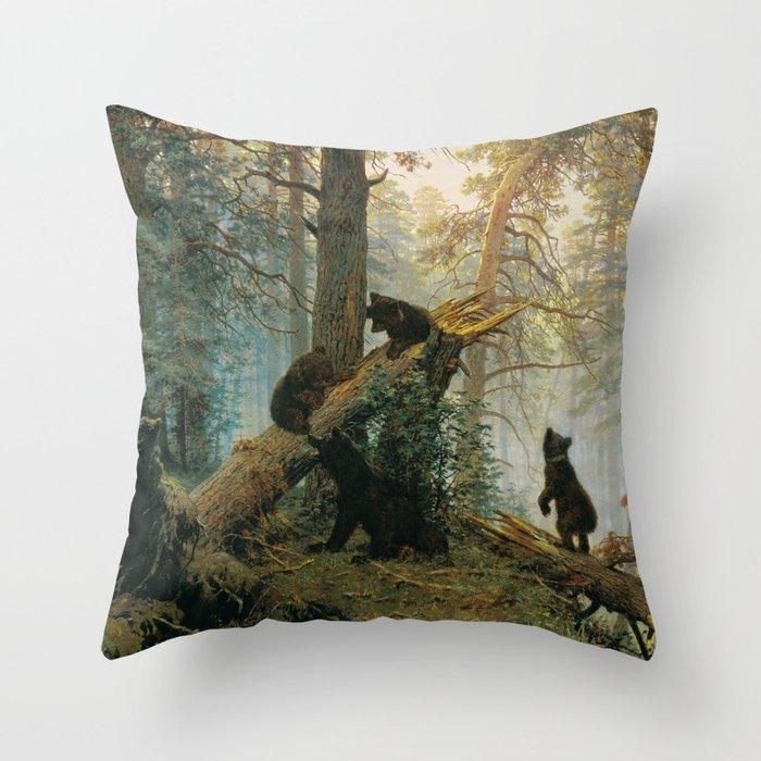 Morning in a Pine Forest by Shishkin and Savitsky (1889) Deko-Kissen