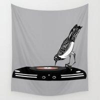 dj Wall Tapestries featuring DJ magpie by tonadisseny