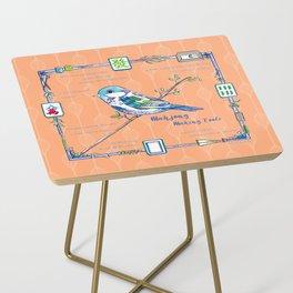 Sparrow Mahjong in Orange Side Table