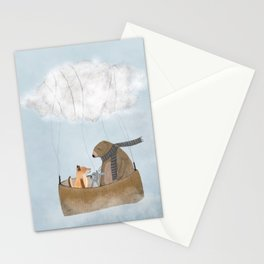 the cloud balloon Stationery Cards