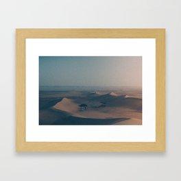 Castle dunes Framed Art Print