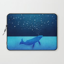 Whale Spouting Stars - Magical & Surreal Laptop Sleeve