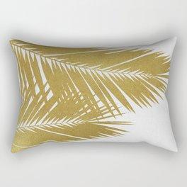 Palm Leaf Gold II Rectangular Pillow