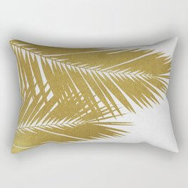 Palm Leaf Gold II Rectangular Pillow