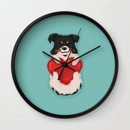Corgi Mix / Borgi Love Wall Clock