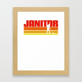 Retro Janitor Gift Idea Framed Art Print