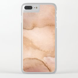 Beige effects Clear iPhone Case