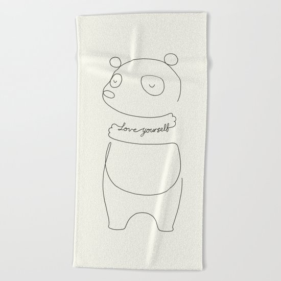 Love Yourself Panda Beach Towel