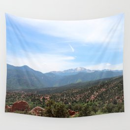 Spectacular View of Pike's Peak Wall Tapestry