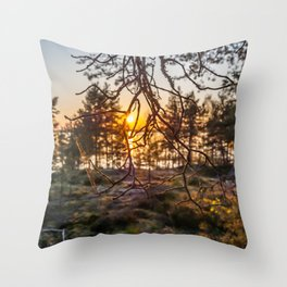 Sunset At Summer In Finland Throw Pillow