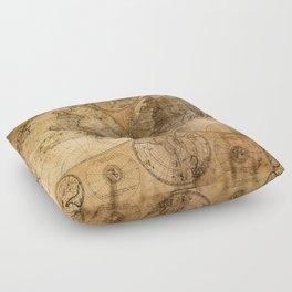 World Map 1746 Floor Pillow