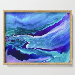 Dreamy Fluid Abstract Painting Serving Tray