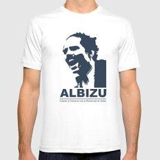 Albizu - Vintage Mens Fitted Tee MEDIUM White