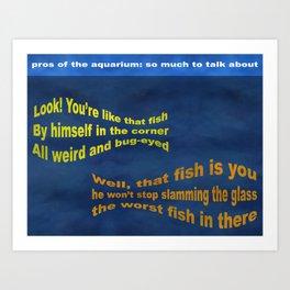 Pros of the Aquarium Art Print