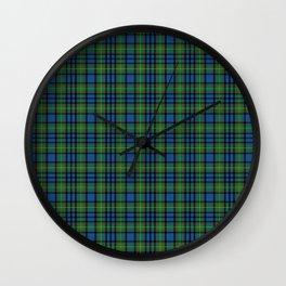 Gillis Tartan Wall Clock
