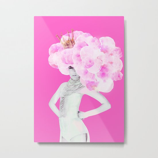 Cotton Candy Queen Metal Print