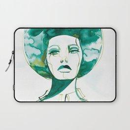 Green Afro Queen Laptop Sleeve