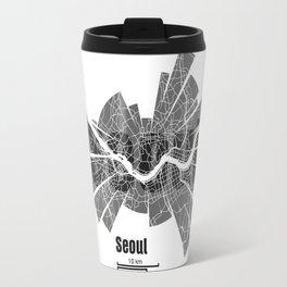 Seoul Map Travel Mug